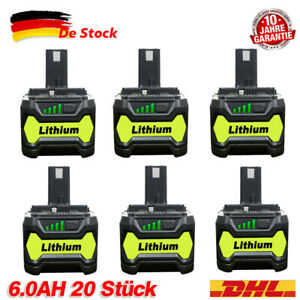 2X-18V-6-0Ah-Fuer-Ryobi-One-Plus-P108-Lithium-Batterie-RB18L50-P104-P780-RB18L40