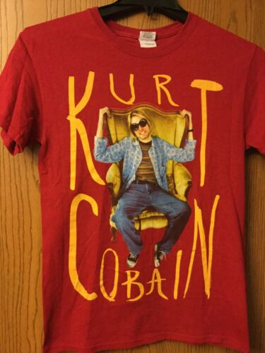 Kurt Cobain.  Red Shirt. S.   (Kurt Sitting In Cha