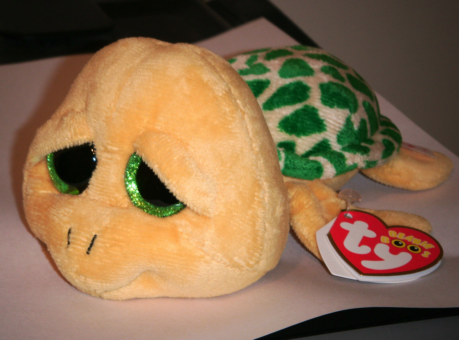 Buy Pokey 2013 Ty Beanie Babie Boos 6in Yellow Turtle Green Sparkle Eyes  3up 36097 online  a89adaef821