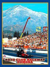Pomona Drag Race California United States Vintage Travel Advertisement Poster