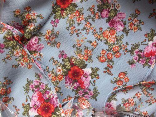 12 Confetti Topshop Floral Wrap Taglia Ditsy Dress Bnwt Tea Blue Style URqap