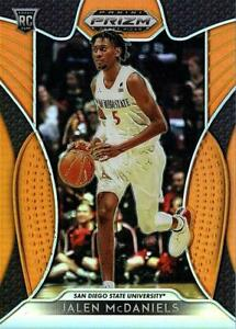 2019-20 Panini Prizm Draft Picks JALEN MCDANIELS Orange Prizm #'D 097/149