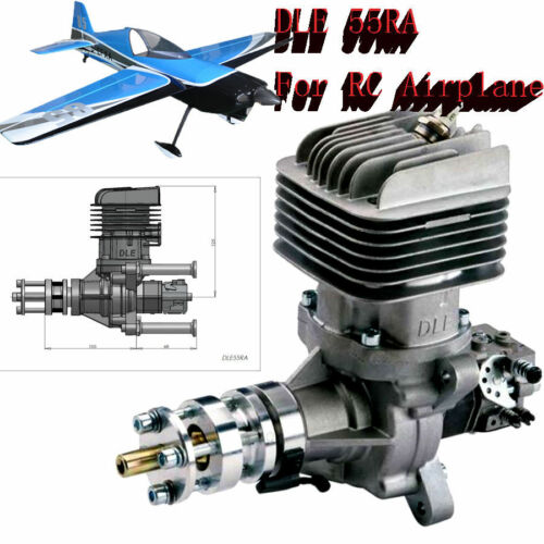 Promotion DLE55RA Engine Rear Exhaust Gasoline wIgnition&Muffler plane model FM