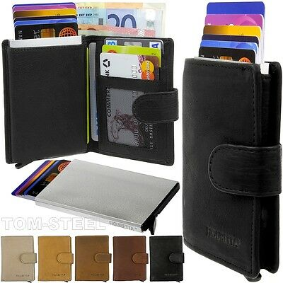 Figuretta Leather Aluminium Purse Credit Card Case Wallet Purse New