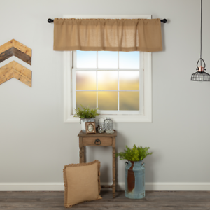 Burlap Natural 16x60 VALANCE Unlined Country Primitive