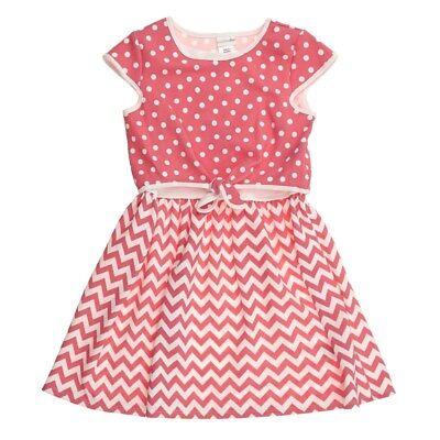 New Girls JUMPING BEANS Black White Pink Cotton Heart Sundress Casual Dress