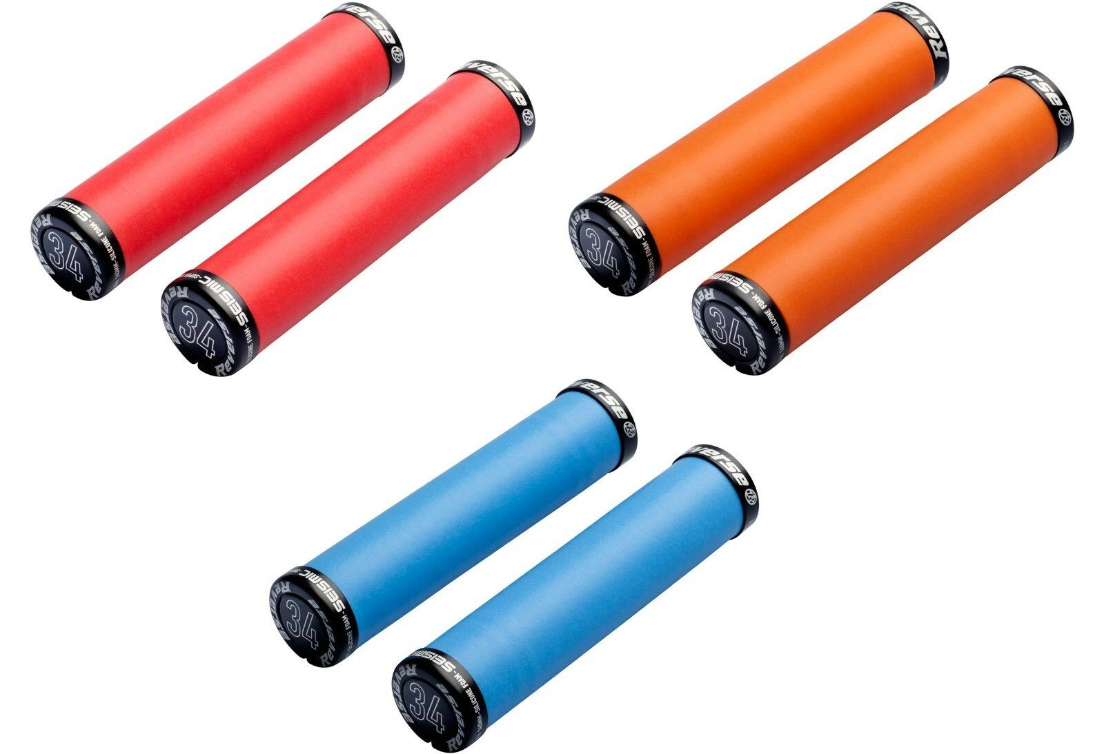 2 Handlebar Grips  Reverse Seismic ERGO 32 mm or 34 mm in various colours  shop now