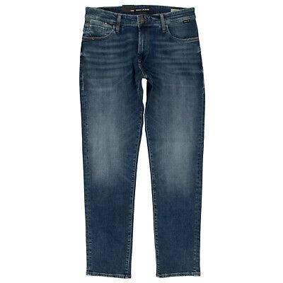 Details zu MAVI Herren Jeans Hose Yves Slim Fit Used Look Dunkelblau 2 Farben