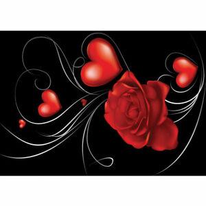 874 Fototapete Rose Blume Blüte Herzen Schnörkel Schwung Nebel liwwing no