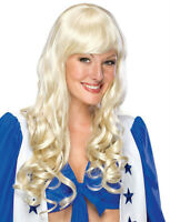 Deluxe Elise Long Platinum Blonde Curly Wig With Bangs