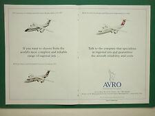 12/1993 PUB AVRO RJ85 CROSSAIR RJ70 BUSINESS EXPRESS RJ100 TURKISH AIRLINES AD