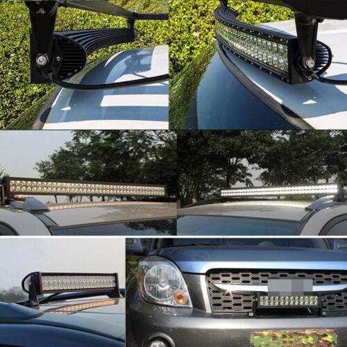 "22//32//42//50//52/"" Curved Amber White Strobe Led light Bar Dual Colors /& Wiring Kit"