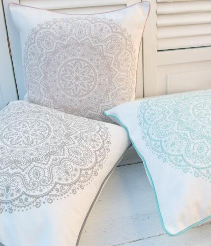 Taie d/'oreiller LIZA Rose 45x45 Offwhite Mandala d/'ornement maison de campagne Cushion