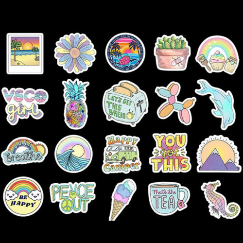 50PCS Stickers For Water Bottles Waterproof Aesthetic Stickers For Laptop PhoBW