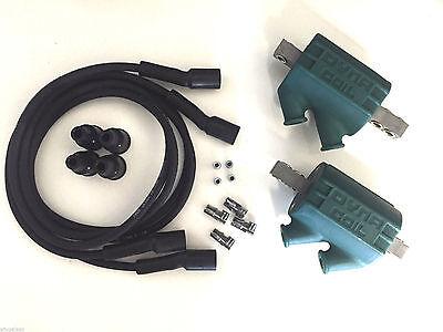 Dyna Ignition Coils 3 ohm Dual Output DC1-1 Wires DW-200 Kawasaki Ninja 900