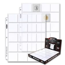 BCW 20-pocket Album Pages for 2x2 Coin Flips Binder Protector Sheets