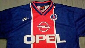 Maillot PSG Paris Saint-Germain nike shirt Opel vintage football xL 1995 1996