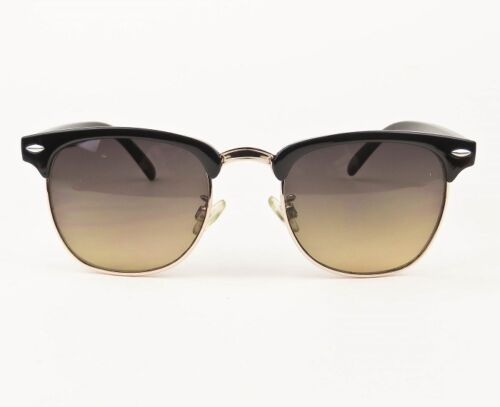 Vintage Square Rectangular Brow Bar Aviator Club Hipster Wayf Sunglasses 7973 M
