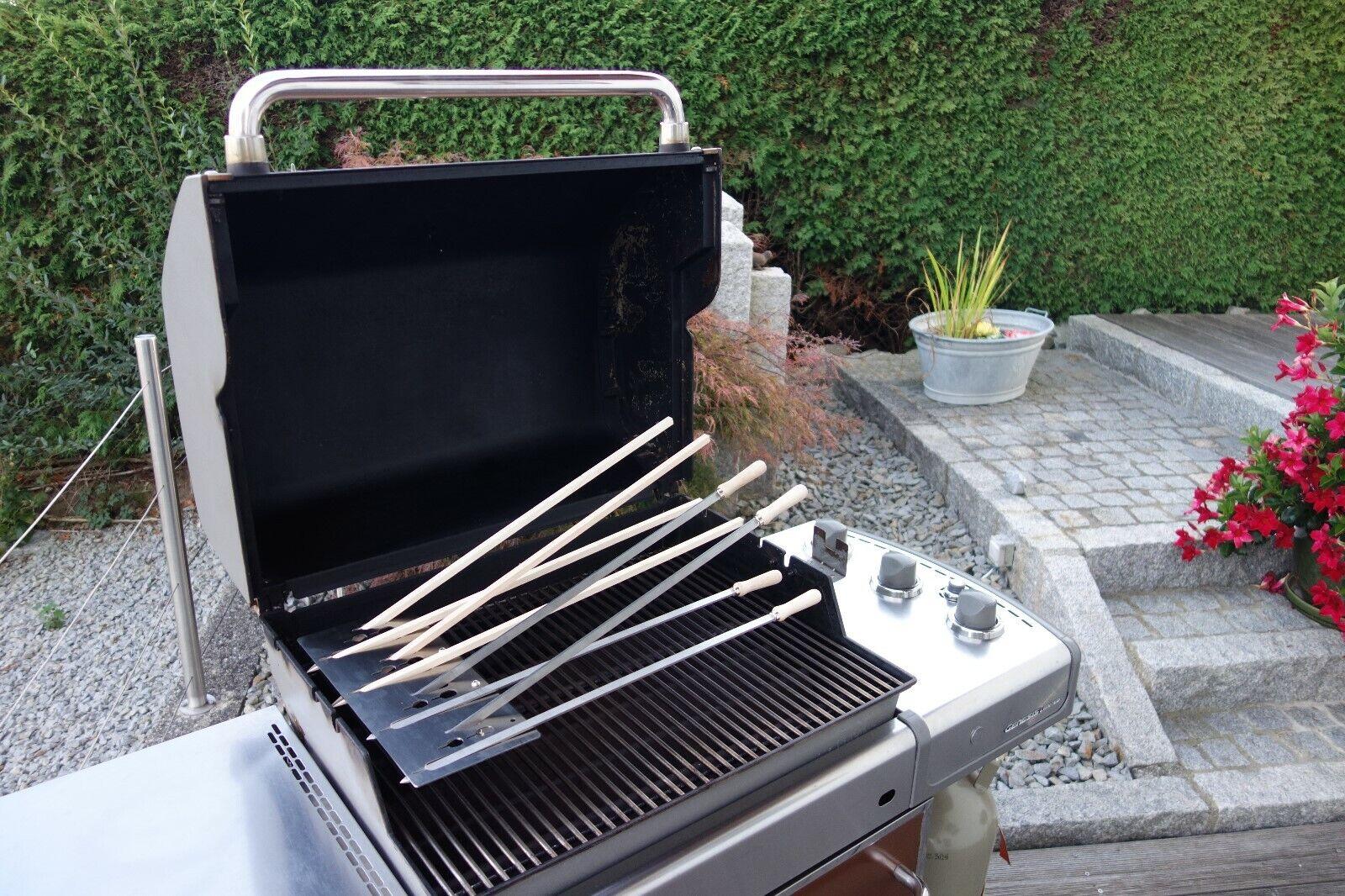Steckerlfisch-Grillaufsatz 4 Fische Barbecue Fischgrill Gasgrill