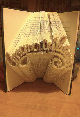 Congratulations Book Folding PATTERN to create your own folded book art