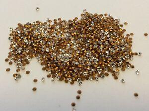 Rhinestones-Crystal-Preciosa-TINY-Czech-Round-Repair-Craft-Foiled-Size-Options