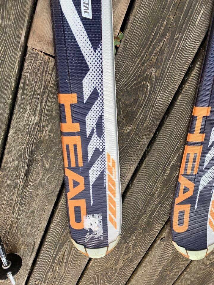 Skisæt, Slalomsejr støvler og stave, str. 160 og 26/26,5