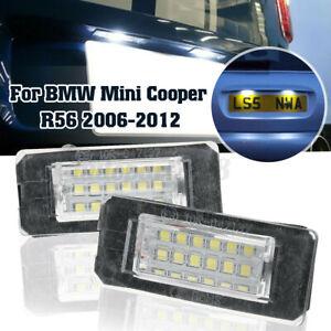 Coppia-12V-Luce-Targa-Posteriore-18-Led-Lampada-Per-Mini-Cooper-R56-2006-2012
