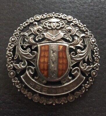 Antike 900er Silber Brosche Mit Wappen Von Bregenz
