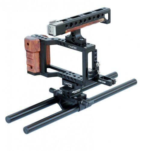 Jaula Profesional CAMTREE HUNT 15mm Adaptador Para cámara Blackmagic bolsillo de la barra