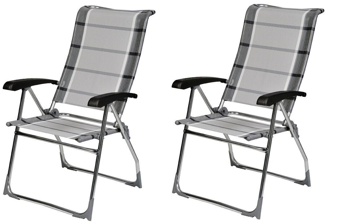 X2 Dukdalf Aspen Folding Caravan Chair Grau Stripe - - - 2018 Model - f9df6a