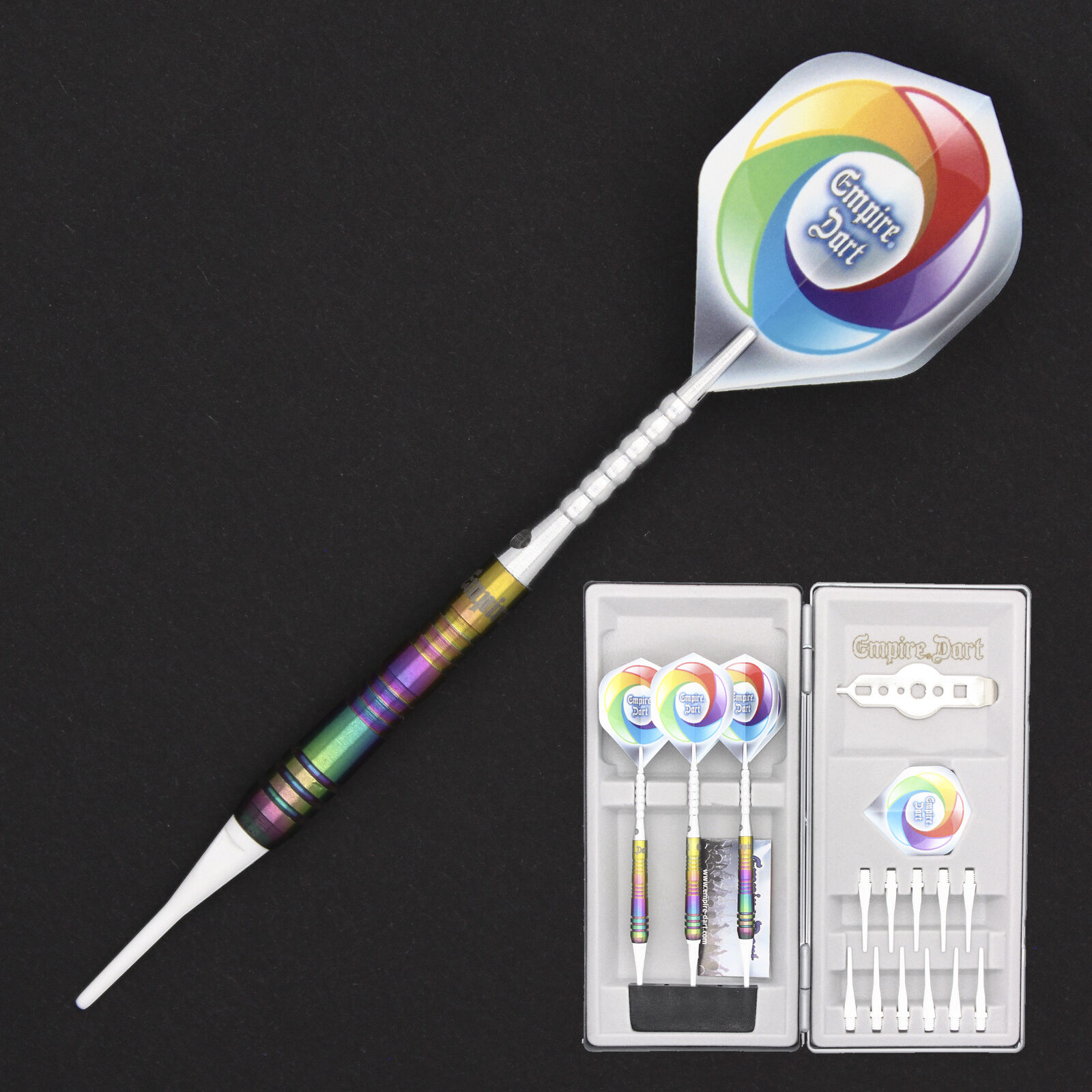 SOFT DART PFEIL SET - EMPIRE DART - EXPLORER - 80% TUNGSTEN MULTICOLOR - 18g