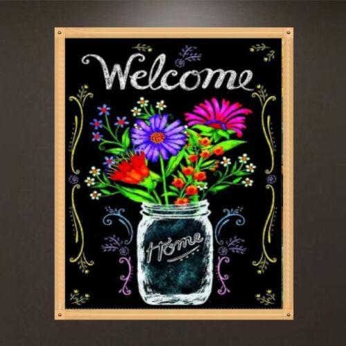 Flowers 5D Diamond DIY Painting Embroidery Cross Stitch Kit Home Decor Craft Art