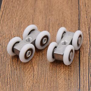 2 Pcs Sliding Door Rollers 4 Wheels