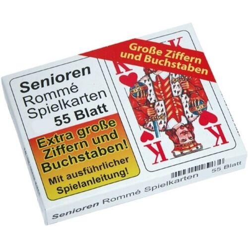 2x 55 Senioren Romme Karten Rommekarten Spielkarten Canasta Rommékarten Rommé