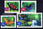 2004 - Nature of Australia - Rainforest Butterflies - set of 4 - MNH