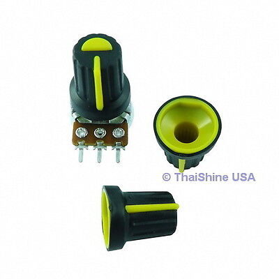 5 x Plastic Knob with Green Pointer High Quality