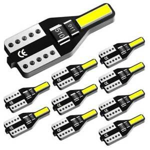 10-LED-T10-501-194-W5W-7020SMD-Car-CANBUS-Error-Free-Wedge-Light-Bulbs-White-Set