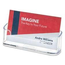 Deflecto Horizontal Business Card Holder Holds 50 2 X 3 12 Car 079916799995