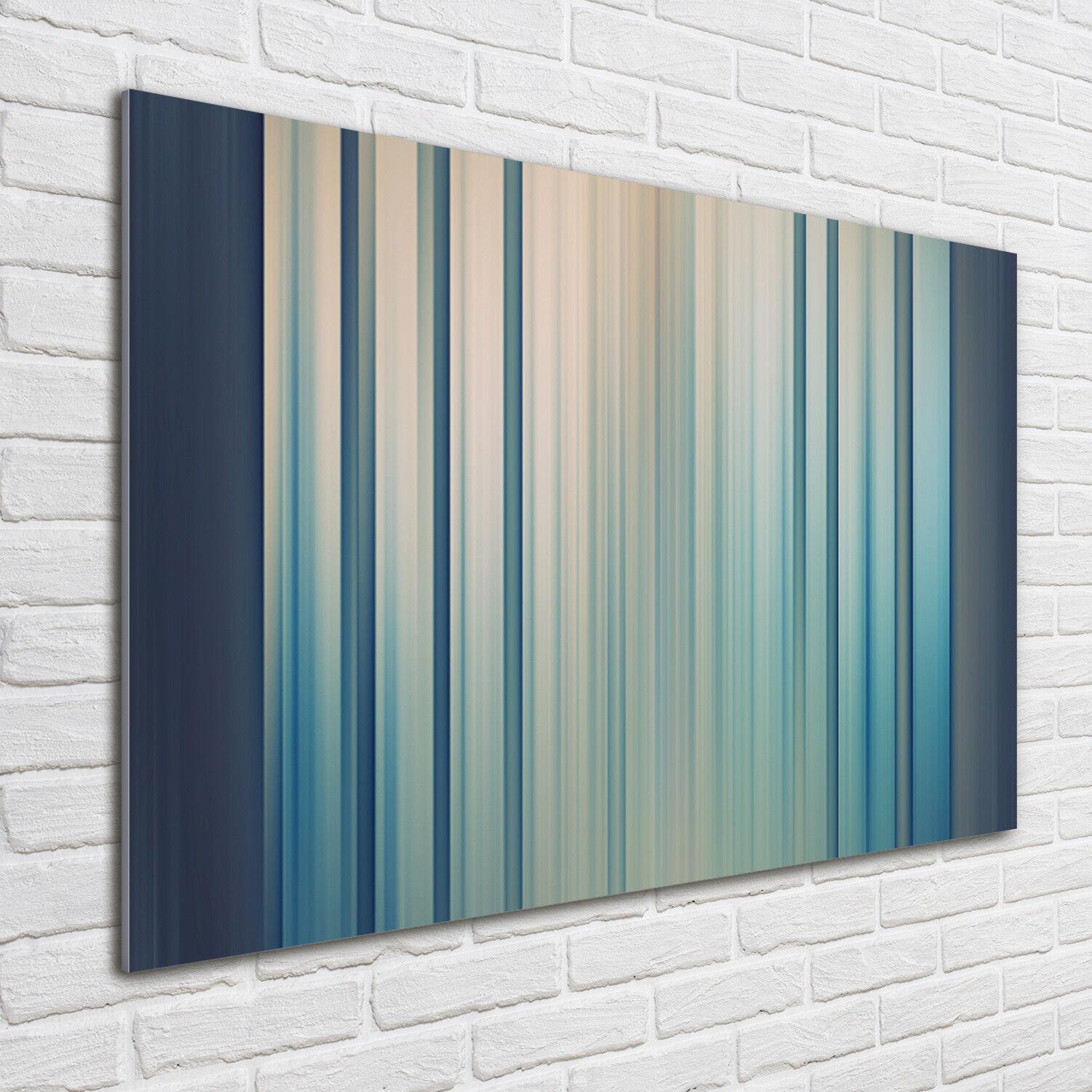 Glas-Bild Wandbilder Druck auf Glas 100x70 Deko Kunst Blaue Streifen