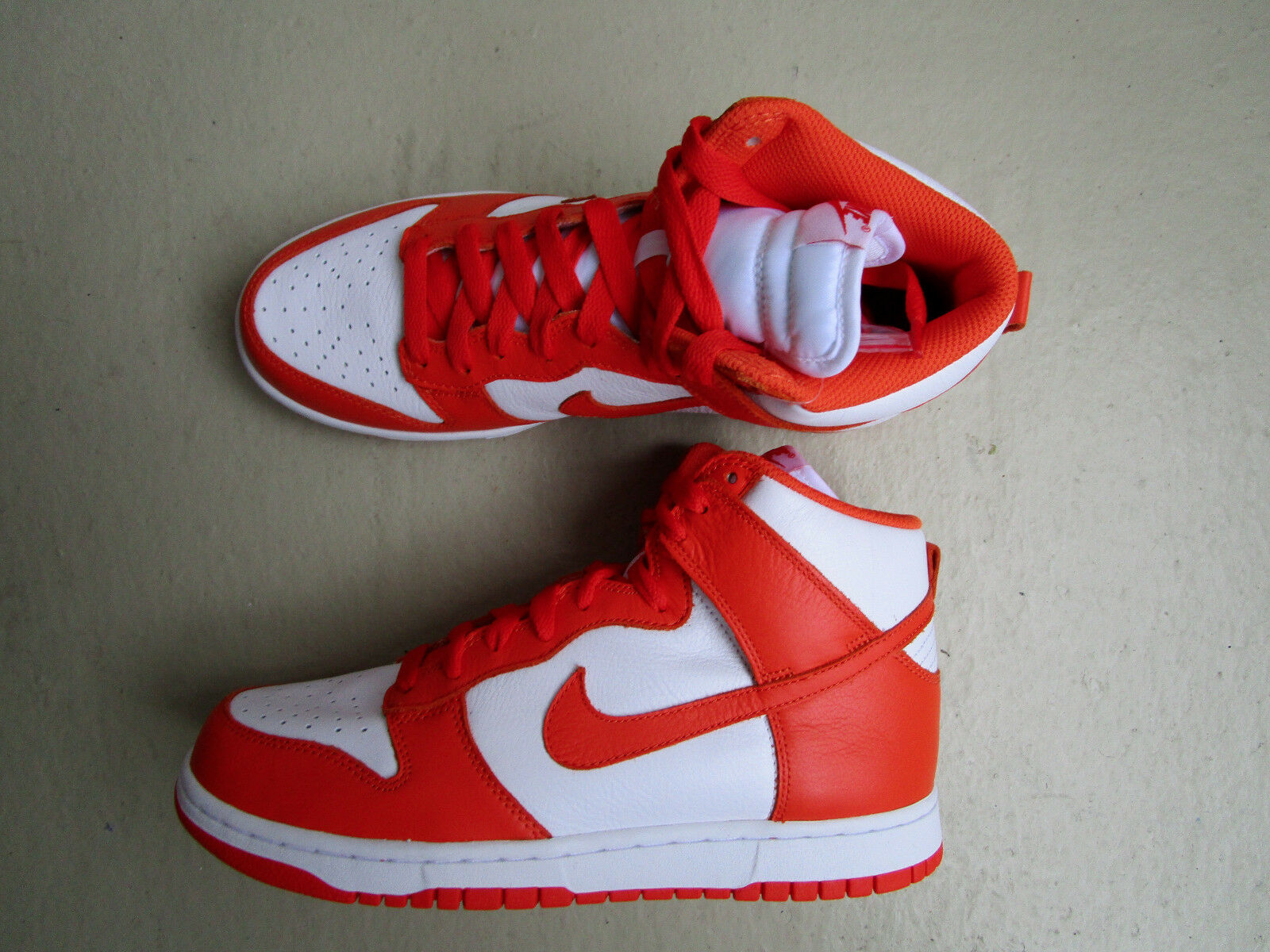 Nike Air Dunk High Retro QS 44 White orange Blaze