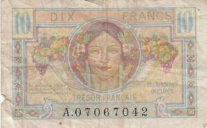 ## France Allemagne Militaire Trésor Français 10 Francs (1947) B1602 P-m7 Nz0abjdf-08004545-207303853