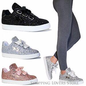 snickers scarpe donna  Scarpe donna Sneakers Glitter Stelle Ginnastica Rialzo Stringate ...