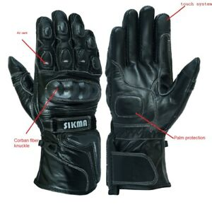 Sikma-Leather-Thermal-Winter-Motorbike-Motorcycle-Gloves-Carbon-Fiber-Knuckles