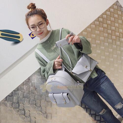 3Pcs Women Girl Backpack Travel Leather Handbag Rucksack Shoulder School Bag LOT