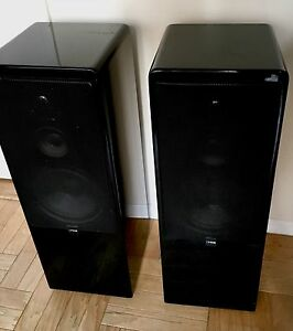 canton ct 80 31 5 black lacquer stereo floor speakers ebay. Black Bedroom Furniture Sets. Home Design Ideas