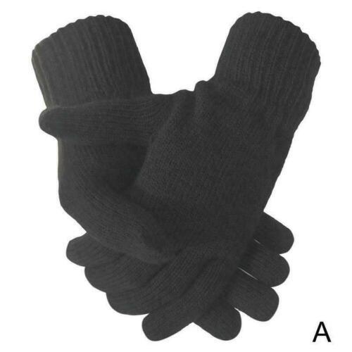 Ladies Womens Super Soft Warm Fine Knit Thermal Winter Gloves Colours Plain X3G6