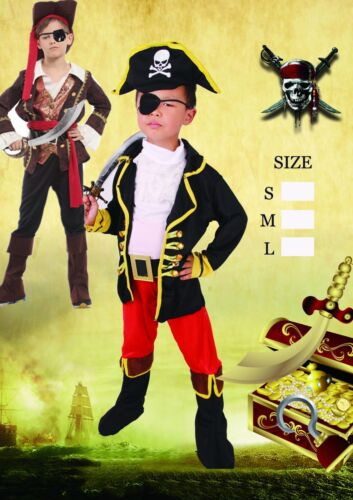 caribbean pirate cosplay costume kids boys Clothes Retail Children Party