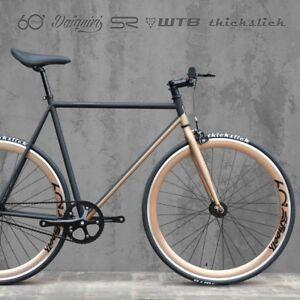 60streets 700c Daiquiri Black Copper Fixed Gear Bike Fixie Single