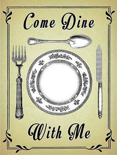 Come Dine Dinner Party Food Drink Retro Diner Cafe Kitchen Novelty Fridge Magnet