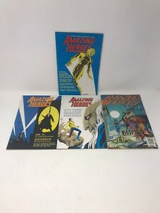 VTG-Amazing-Heroes-Comic-Book-Lot-Of-4-No-s-34-40-48-140-Low-Grade